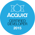 Rob is an Acquia Certified Developer as of May 2015